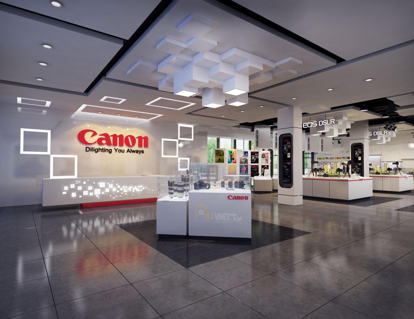 thiet ke shop canon auviet; thiet ke showroom canon; thiet ke showroom canon auviet; thiet ke showroom noi that canon