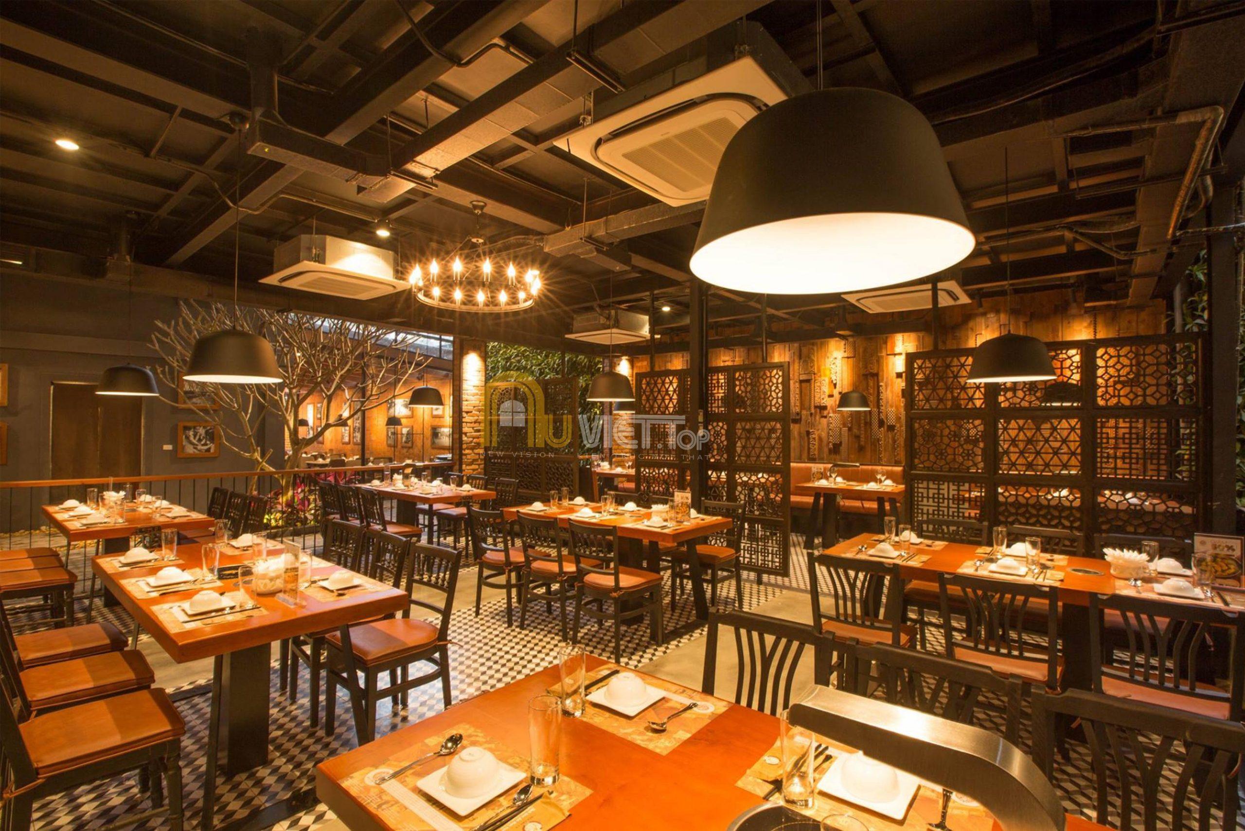 thiet ke noi that Restaurant vua cha ca tang 1 scaled