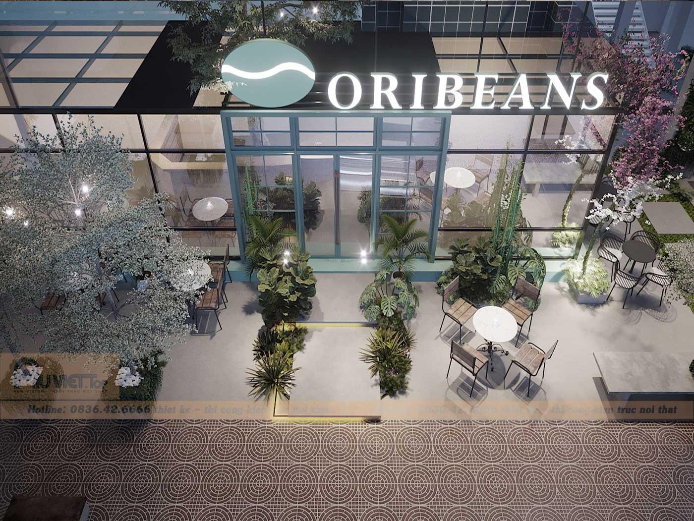 thiet ke noi that sanh Oribeans coffee
