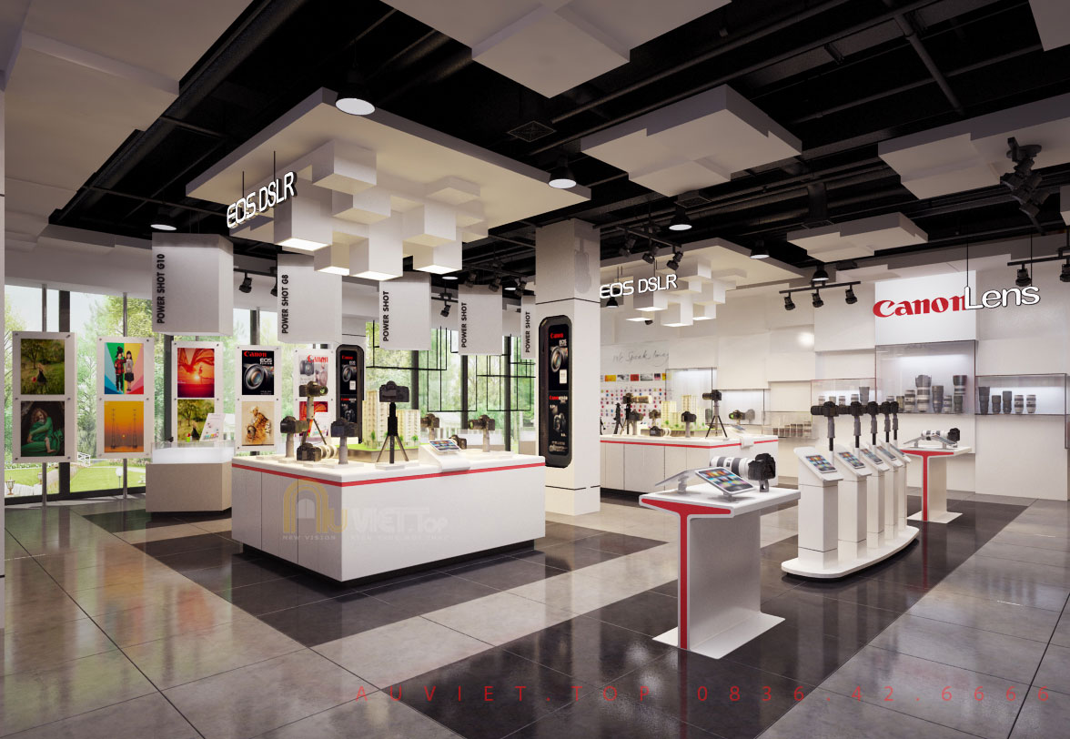 THIẾT KẾ SHOWROOM CANON